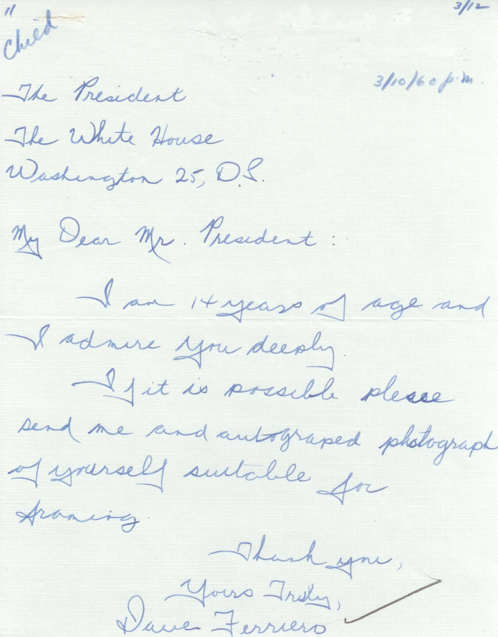 50 years ago aotus my letter to president eisenhower aljukfo Images