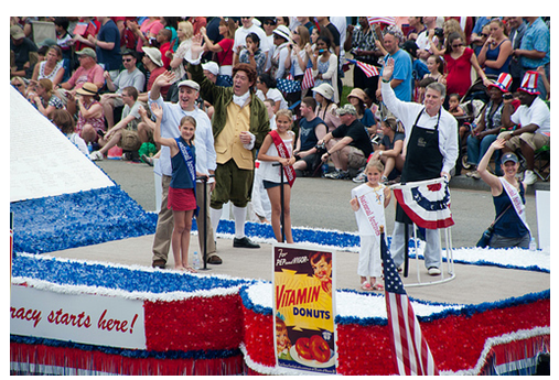 National Archives float
