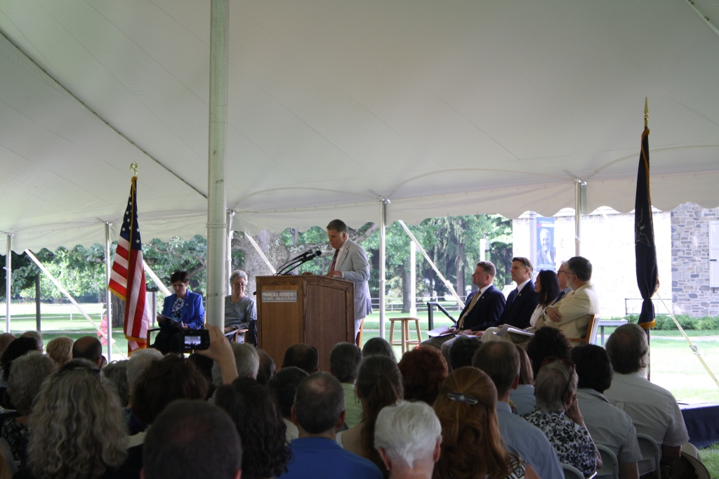 AOTUS speaking at FDR Rededication ceremony