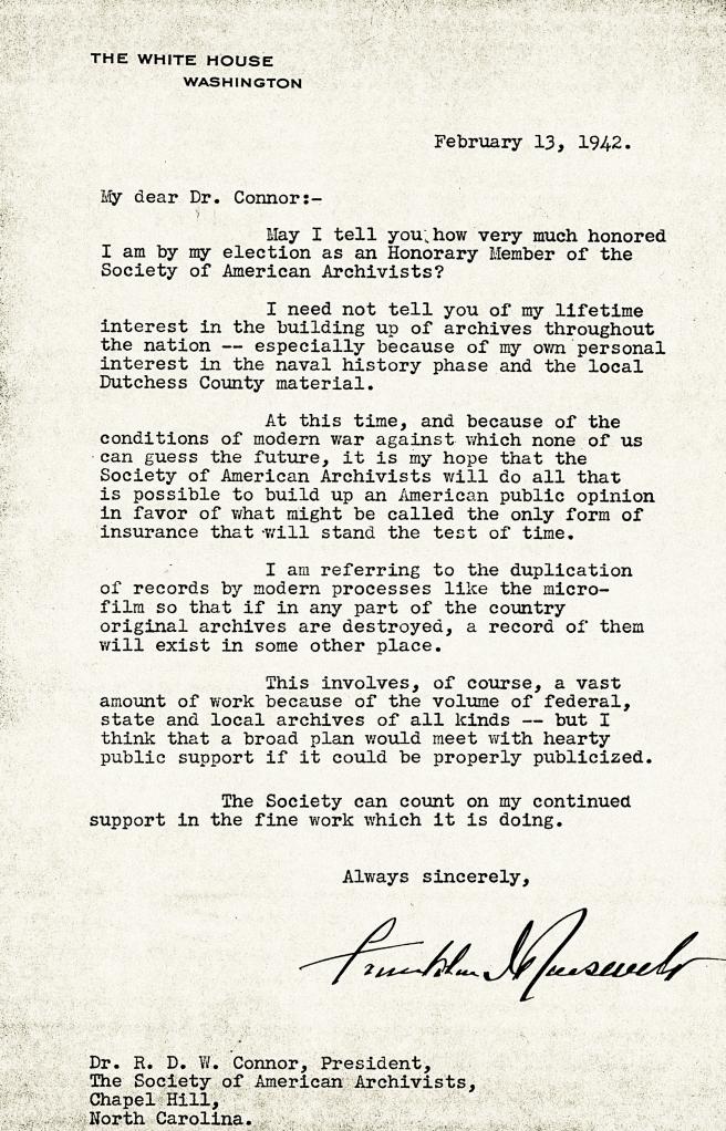 FDR Letter