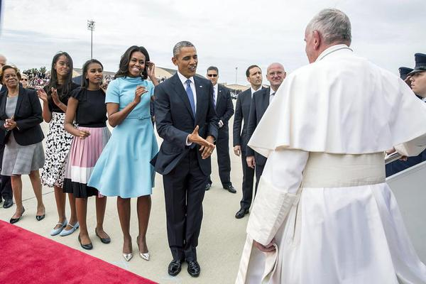 Pope Francis arrives in D.C. at Joint Base Andrews, 9/22/15. Photo courtesy of the White House. https://www.whitehouse.gov/campaign/pope-visit