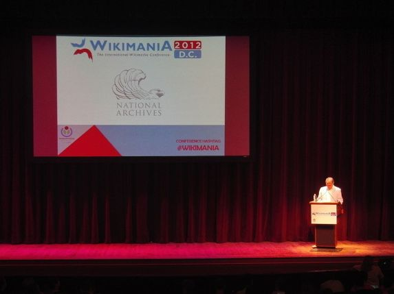 David Ferriero speaks to Wikimedians at Wikimania 2012