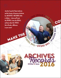 CoSA - SAA 2016 Program cover