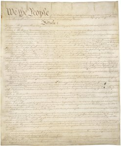 Constitution of the United States, Page 1