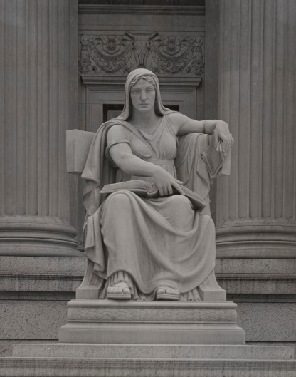 Photograph of Female Statue, The Future, Located near the Pennsylvania Avenue Entrance to the National Archives Building